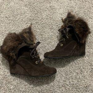 Stuart Weitzman Fur Lined Boots